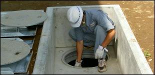 浄化槽維持管理・清掃事業のイメージ